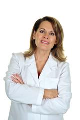 Professional Woman Wearing a Lab Coat