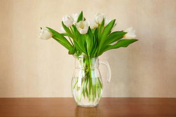 soft white tulips