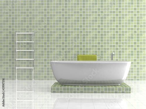 """Wohndesign - Badezimmer Grün Mosaik"""" Stockfotos Und Lizenzfreie"""