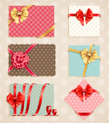 Wall Mural - Bows Collection with vintage
