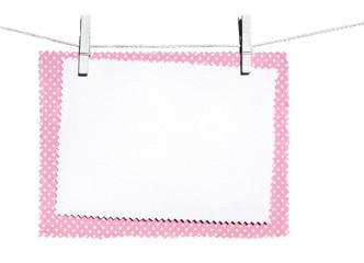 memo in pink