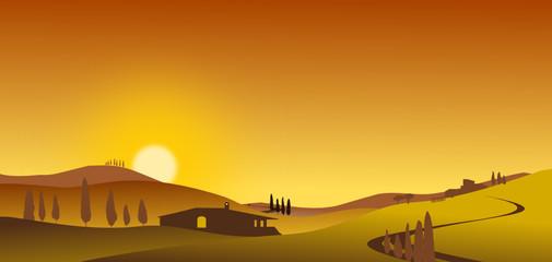 Südeuropa Sonnenuntergang Silhouette