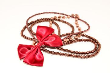 dark red jewellery