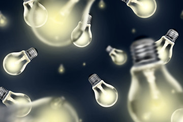 Falling Light Bulbs