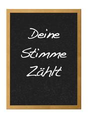 Votaciones escrito en alemán.