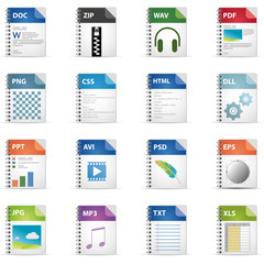 File Icons -Ringbuch-