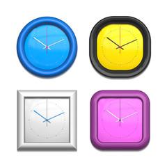 four different clocks