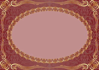 background with gold ornaments