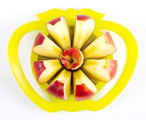 Apfel im Apfelteiler