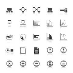 dark business icons