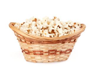 popcorn in a basket