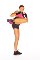 Front-Kick beim Kickboxen
