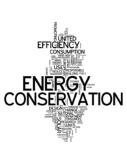 "Word Cloud ""Energy Conservation"""