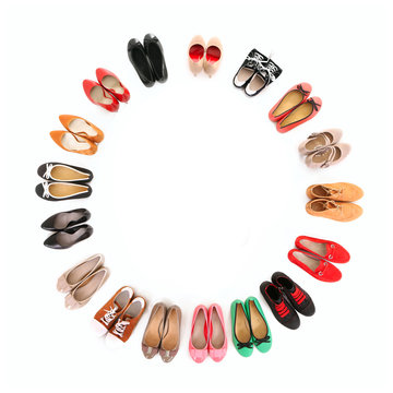 Circle of shoes