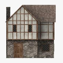 3d render of medieval building