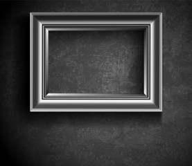 Grunge Picture Frame on Beton Wall