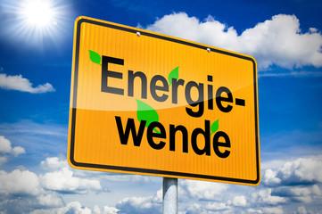 Ortseingangsschild mit Energiewende