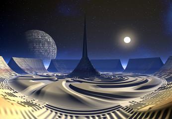 Fantasy Alien Arena Construction