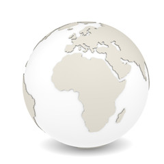 The Earth rotation view 2. Sparse design, white background.