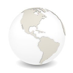 The Earth rotation view 3. Sparse design, white background.