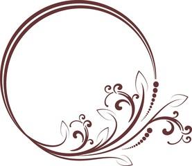 decorative frame for design in vintage styled