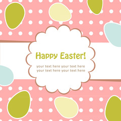 Easter eggs greeting decorative postcard