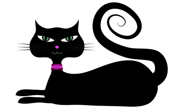 Modern Kitty With Spiral Tail