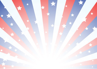 Background with stars and stripes