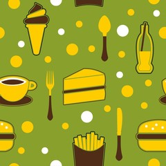 Seamless Junk Food Background