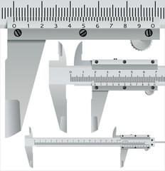 calliper square, realistic measuring object