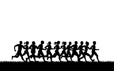 running motion , vector image