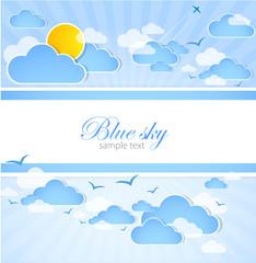 Photo sur Aluminium Ciel Good weather background. Blue sky with clouds. Vector