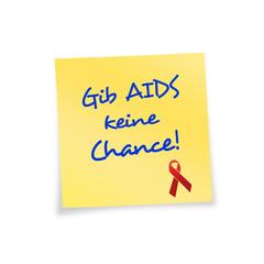 Notizzettel gelb AIDS