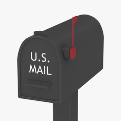 3d render of mail box