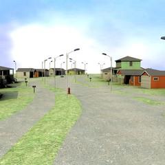 3d render of US village