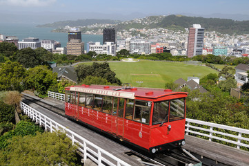 Canvas Prints New Zealand Cable Car Wellington