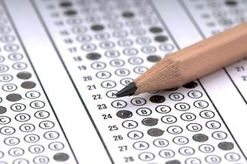 Multiple choice examination form or customer satisfaction survey