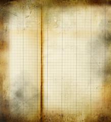 fogli di quaderno vintage
