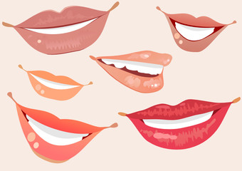 collection of female lips