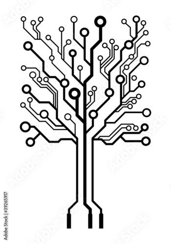 u0026quot vector logo square circuit board tree u0026quot  imagens e vetores