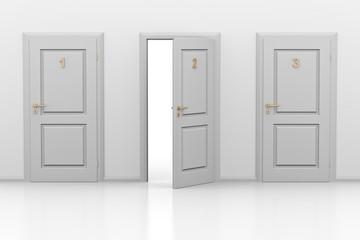 Drei Türen 3d