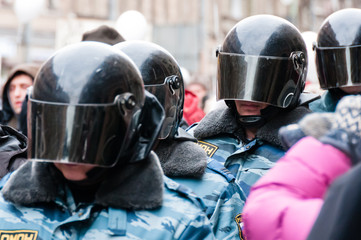 Russian SWAT on demonstration