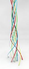 Twisting conduits
