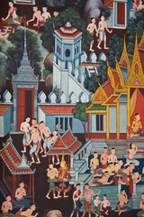 Thai traditional mural