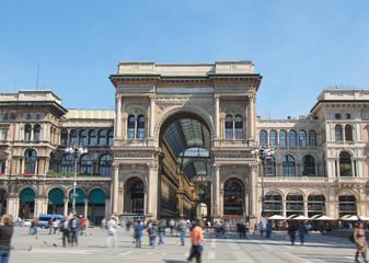 Spoed Foto op Canvas Milan Piazza Duomo, Milan