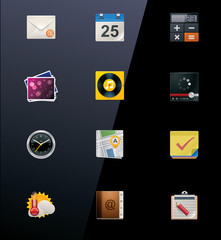 Vector mobile devices icons. Part 1