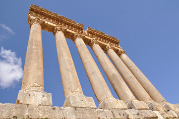 Temple of Jupiter in Baalbek, Lebanon.