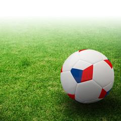 Czech Republic flag on 3d Football