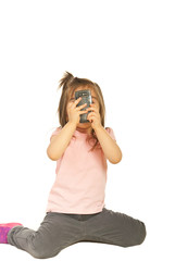 Girl taking photos with mobile phone