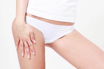 Girls whit White pant